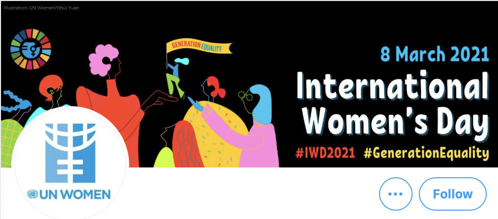 UN Women poster for International Women's Day 2021